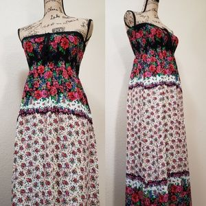 Forever 21 Floral Sleeveless Maxi Dress | Long 45""